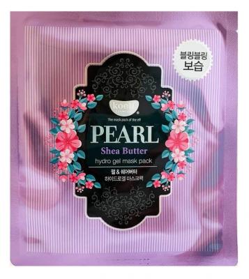 Маска гидрогелевая с маслом Ши и жемчужной пудрой PETITFEE KOELF Hydro gel mask pack jewel series pearl & shea butter 30г: фото