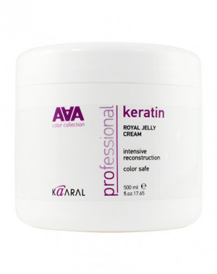 Маска-крем питательная для восстановления окрашенных и химически обработанных волос Kaaral Keratin Royal Jelly Crem 500мл: фото