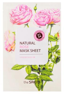 Маска тканевая с экстрактом розы THE SAEM Natural Rose Mask Sheet 21мл: фото