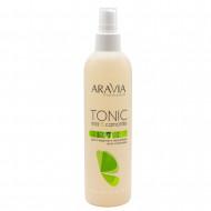 Тоник для очищения и увлажнения кожи с мятой и ромашкой Aravia Professional 300 мл: фото