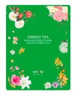 Маска тканевая с зеленым чаем Eyenlip GREEN TEA OIL MOISTURE ESSENCE MASK 25мл: фото