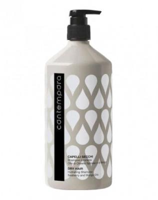Шампунь увлажняющий с маслами облепихи и манго Barex Соntempora Shampoo Idratante Olio di Olivello Spinoso e di Mango 1000мл: фото
