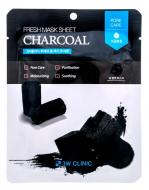 Тканевая маска для лица с древесным углем 3W CLINIC Fresh Charcoal Mask Sheet 23мл: фото