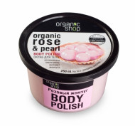 Скраб для тела Organic Shop Розовый жемчуг 250мл: фото