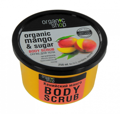 Скраб для тела Organic Shop Кенийский манго 250мл: фото